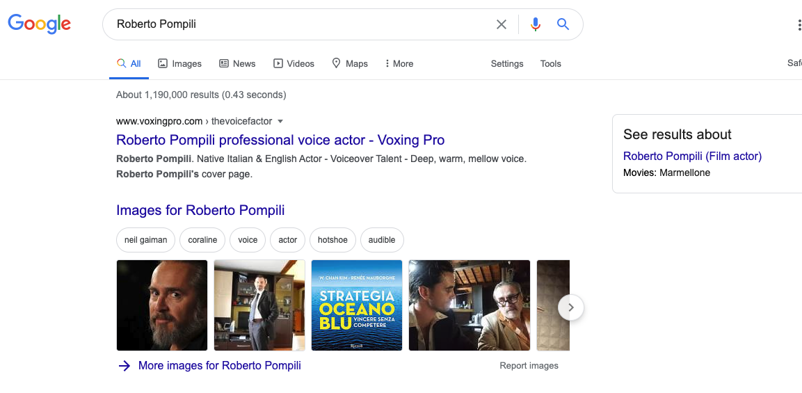 Google Results Voxing Pro Profiles